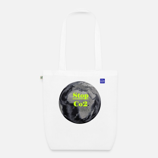 Carbon Dioxide Bags & Backpacks - Co2 OuT! Save the Planet and your self! - Organic Tote Bag white