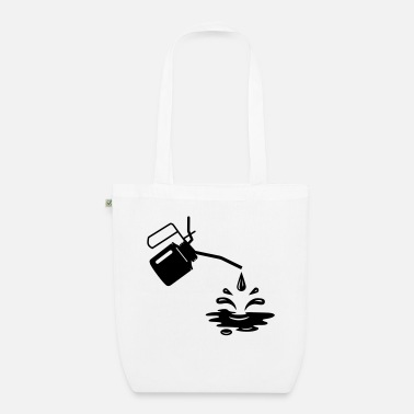 Oil An oil can and oil drops - Organic Tote Bag