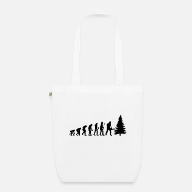 The evolution of the forester - Organic Tote Bag