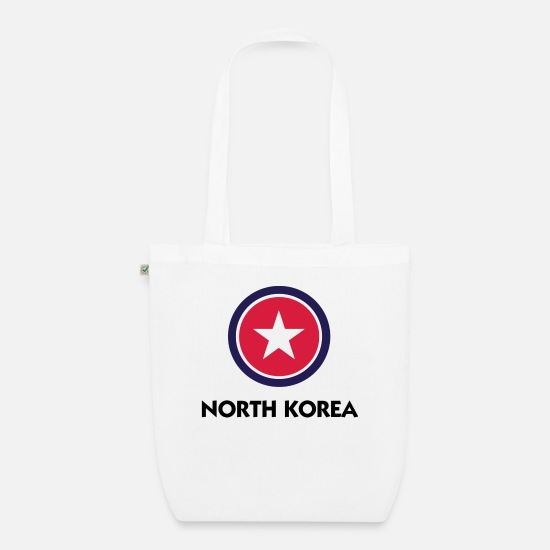 Country Bags & Backpacks - A star for North Korea - Organic Tote Bag white