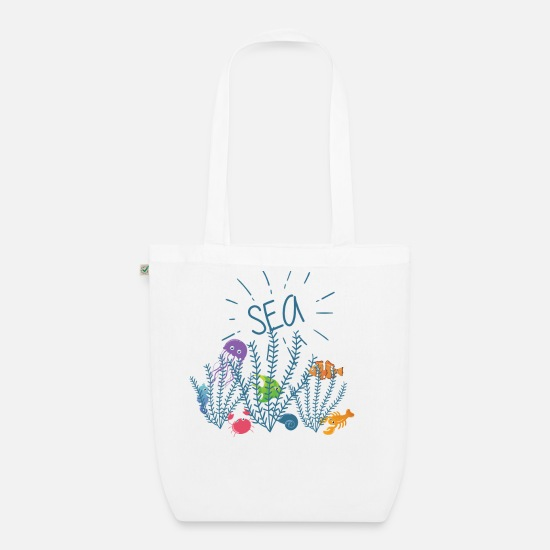Fish Bags & Backpacks - SEA - Organic Tote Bag white