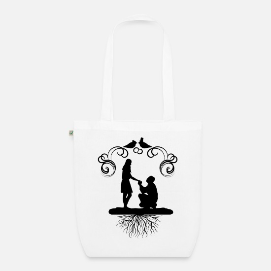 Party Bags & Backpacks - engagement - Organic Tote Bag white