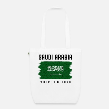 Saudi-arabische Nationalflagge Saudi-Arabien Where I Belong Statement Geschenk - Bio Stoffbeutel