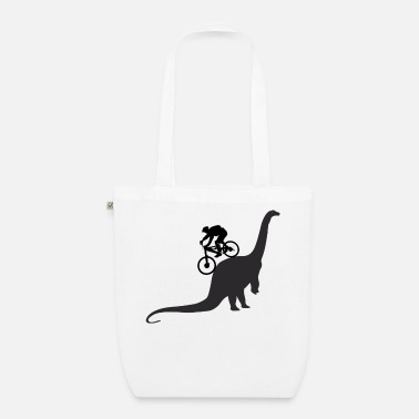 Dinosaur MTB Mountain Biking Bike Mountain Bike Dinosaur - Organic Tote Bag