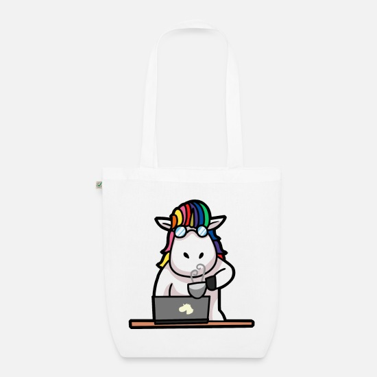 High School Senior Bags & Backpacks - Student Uni Abi graduating school unicorn unicorns - Organic Tote Bag white