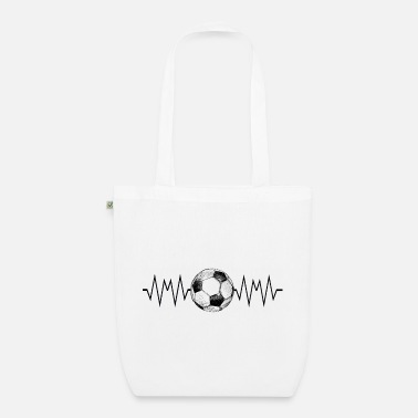 Ball Football with a heartbeat - Organic Tote Bag