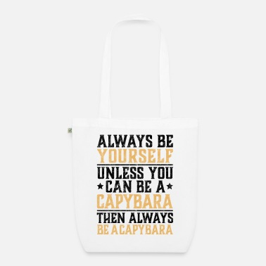 Panama Be a Capybara funny water pig saying - Organic Tote Bag