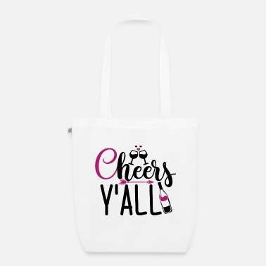 Red Wine Gift for wine lovers from Cheer's Y'all - Organic Tote Bag