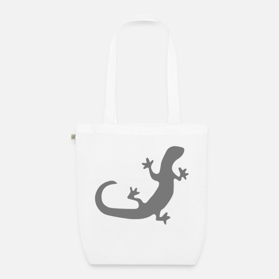 Gecko Bags & Backpacks - lizard - Organic Tote Bag white