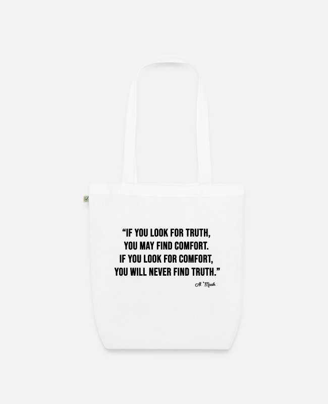 Series Bags & Backpacks - LOOK FOR TRUTH - Organic Tote Bag white