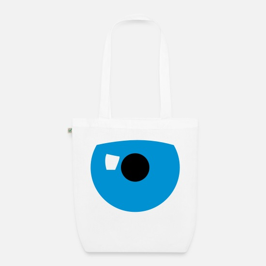 Eye Bags & Backpacks - eye catcher eye - Organic Tote Bag white