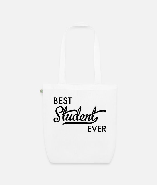 Schoolgirl Bags & Backpacks - college student - Organic Tote Bag white