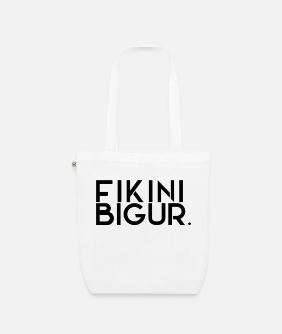 Training Bags & Backpacks - FIKINIBIGUR - Organic Tote Bag white