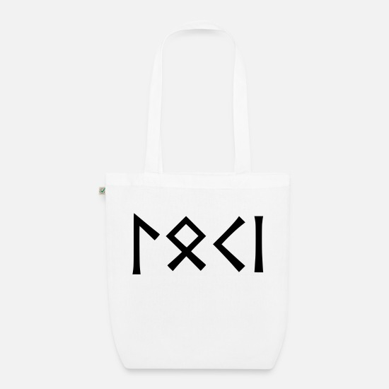 Loki Bags & Backpacks - Loki - god of pranksters - Organic Tote Bag white