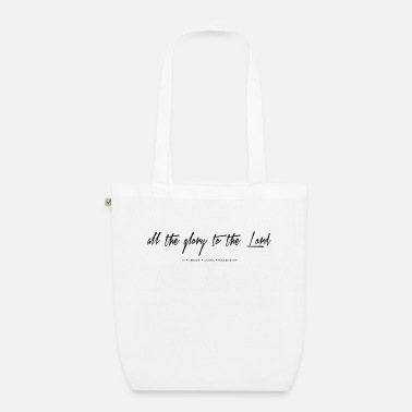 Christian Online Shop glory to the lord - Organic Tote Bag