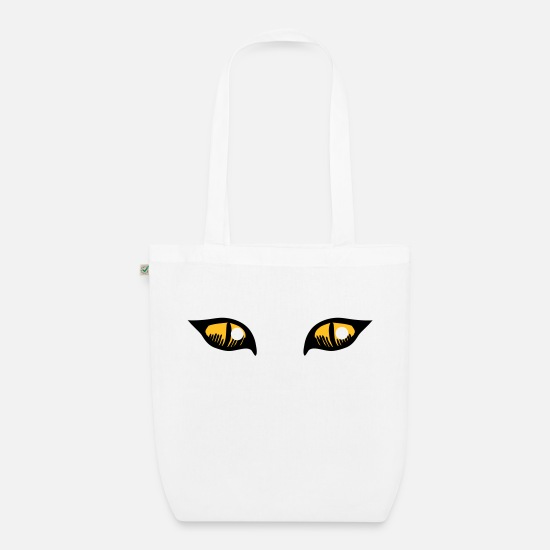Owner Bags & Backpacks - ROUGH cat eyes with white shines - Organic Tote Bag white