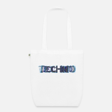 Turntable Techno Glitch I Love Techno - Sac en tissu bio