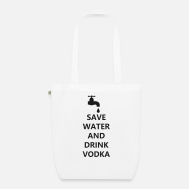 Bar Water vodka funny drunk cocktail bar pub - Organic Tote Bag