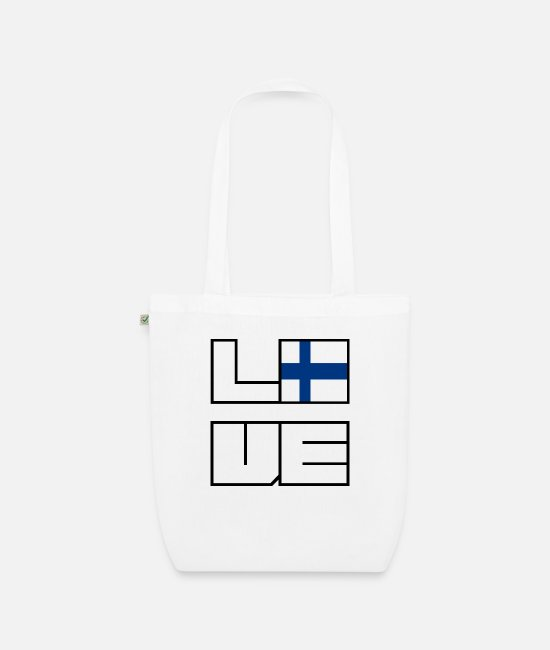 EU Bags & Backpacks - Love home roots Roots Finland - Organic Tote Bag white