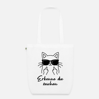 Gangster Angry cat sunglasses middle finger cats - Organic Tote Bag
