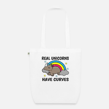 Overweight Unicorn Curves Rhino Overweight Sexy Gift - Organic Tote Bag