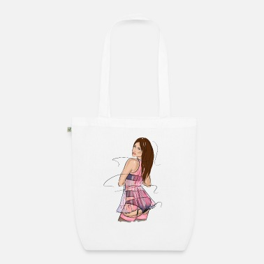 Man Underwear Sexy brunette in underwear - Organic Tote Bag
