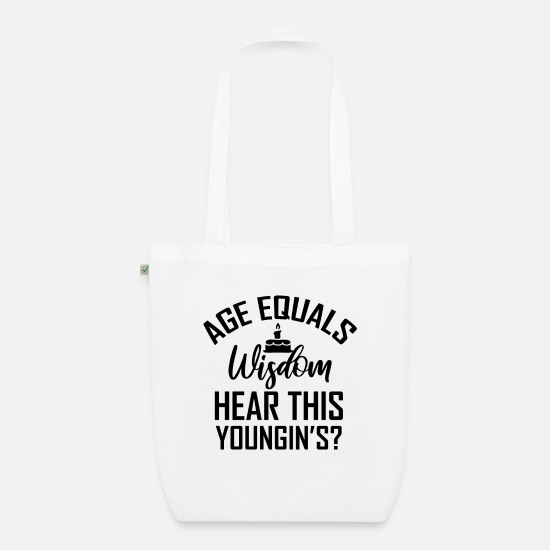 Birthday Bags & Backpacks - Birthday 50 years - Organic Tote Bag white