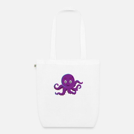 Tentacle Bags & Backpacks - Octopus octopus - Organic Tote Bag white
