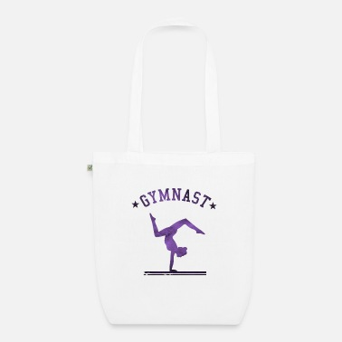 Gymnastics Gymnast Girl - Turner girl with handstand purple - Organic Tote Bag