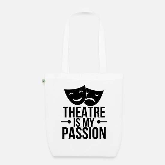Actor Bags & Backpacks - theatre - Organic Tote Bag white