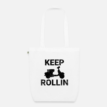 Scooters Meet Keep Rollin scooter PX retro scooter gift - Organic Tote Bag