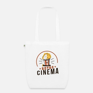 Cinema Retro cinema with popcorn cinema as it used to be - Organic Tote Bag