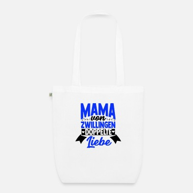 Superhero Mommy of twins double love - Organic Tote Bag