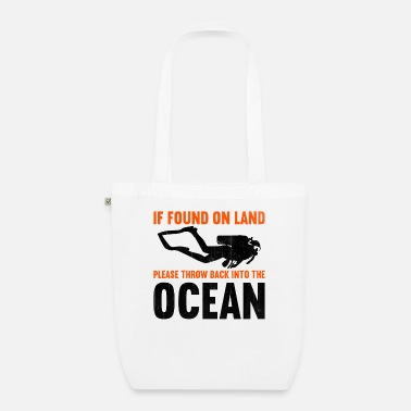 Water If found on land, please throw back into the ocean - Organic Tote Bag