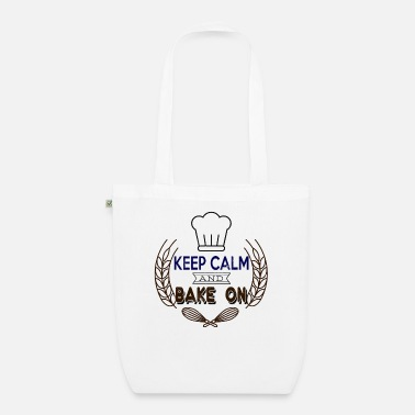 Motivated Keep calm and bake on - Organic Tote Bag