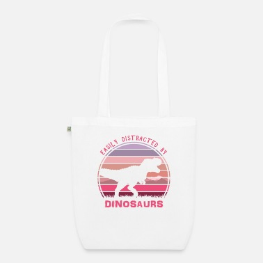 Wild Animal Easily Distracted By Dinosaurs Pink Sunset - Organic Tote Bag