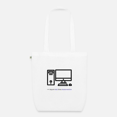 Hacker PC Computer Data Science import Overflow Skill - Organic Tote Bag