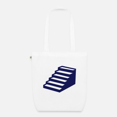 Winding Staircase small step staircase 0 - Organic Tote Bag