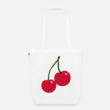 Tree Cherry red - Organic Tote Bag