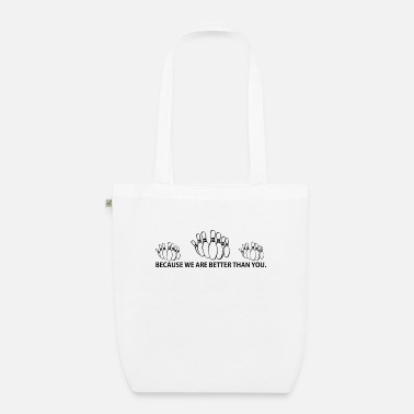 BETTER THAN YOU KING QUEEN bowling bowler bowling p - Organic Tote Bag