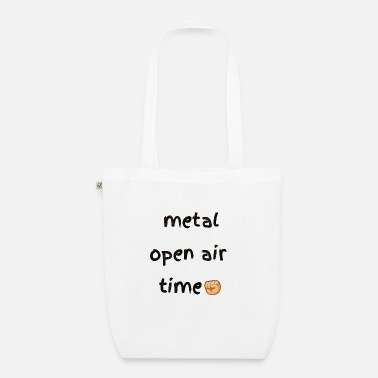 Shouter Metal open air festival time in summer - Organic Tote Bag