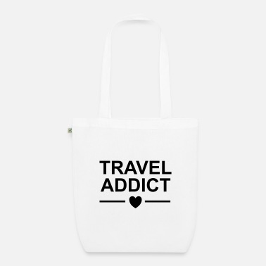 Travel TRAVEL ADDICT HEART - Organic Tote Bag