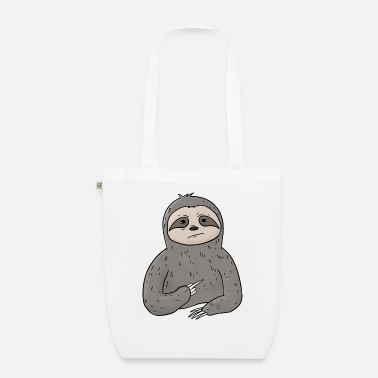 Hate People Mürrischer Sloth holds middle finger - Organic Tote Bag