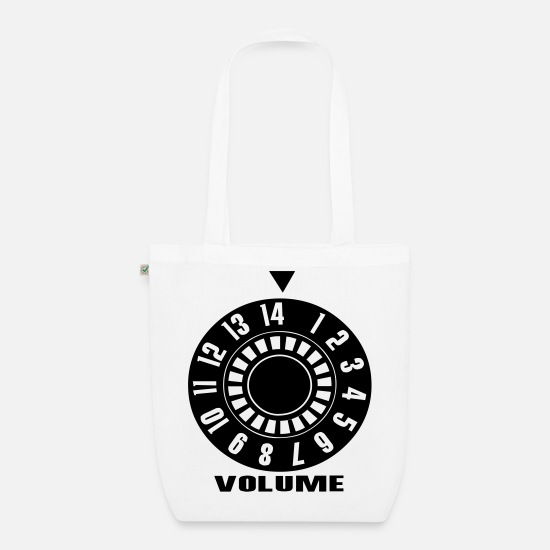 Volume Bags & Backpacks - Volume, Volume, Volume Up, Volume Down, Music Design - Organic Tote Bag white