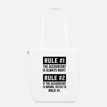 The Office The Accountant is always right Accountant Gift - Organic Tote Bag