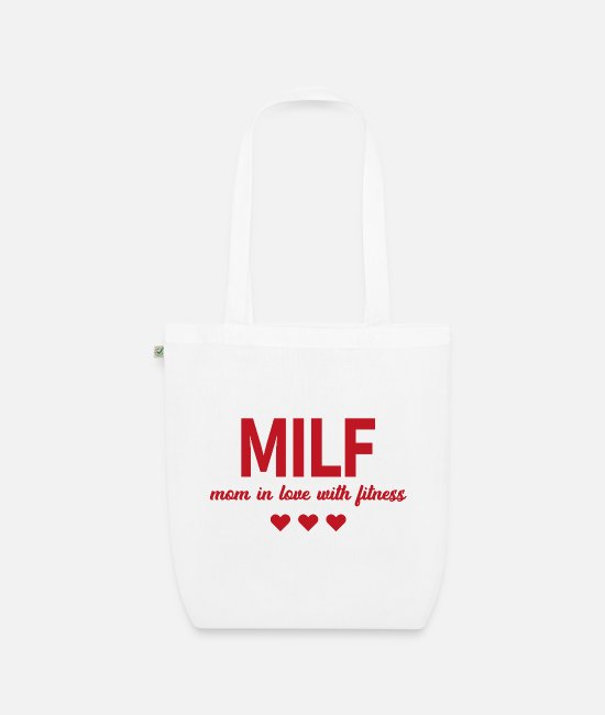 Right One Bags & Backpacks - Milf mom in love with fitness gift fitness - Organic Tote Bag white
