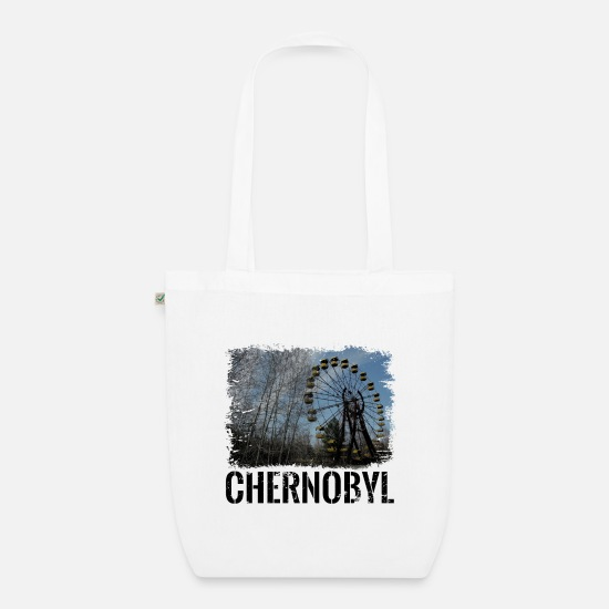 Gift Idea Bags & Backpacks - Chernobyl nuclear power radioactive pripyat gift - Organic Tote Bag white
