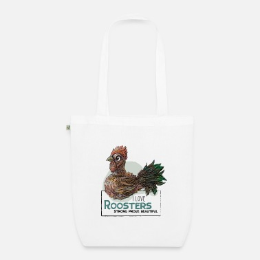 I Love Roosters - Bio Stoffbeutel
