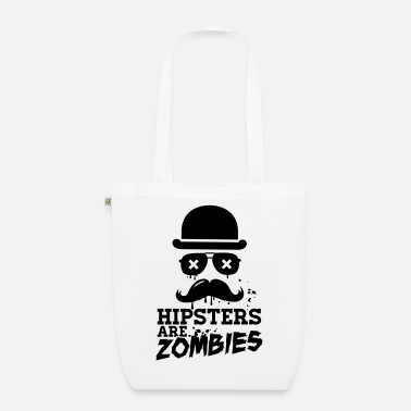 Zombie Lustige hipsters zombies zombie hipster undead - Bio Stoffbeutel