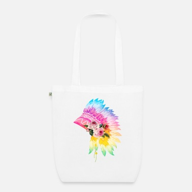 Headdress Floral Headdress - Organic Tote Bag